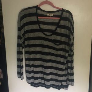 Black and Grey stripe Madewell top